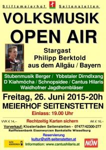 Volksmusik Open Air Plakat